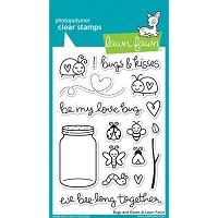 Lawn Fawn - Clear Stamps - Bugs & Kisses
