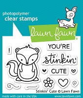 Lawn Fawn - Clear Stamps - Stinkin' Cute