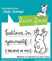 Lawn Fawn - Clear Stamps - Believe In Yourself