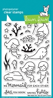 Lawn Fawn - Clear Stamps - Mermaid For You