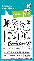 Lawn Fawn - Clear Stamps - Flamingo Together