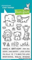 Lawn Fawn - Clear Stamps - Wild For You