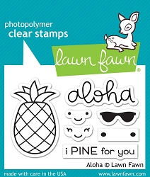 Lawn Fawn - Clear Stamps - Aloha