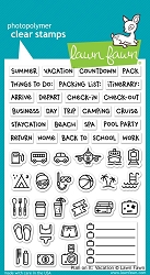 Lawn Fawn - Clear Stamps - Plan On It: Vacation