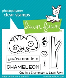 Lawn Fawn - Clear Stamps - One In A Chameleon