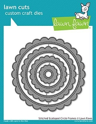 Lawn Fawn - Die - Stitched Scalloped Circle Frames