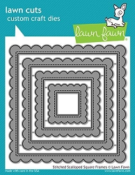 Lawn Fawn - Die - Stitched Scalloped Square Frames