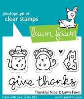 Lawn Fawn - Clear Stamps - Thankful Mice