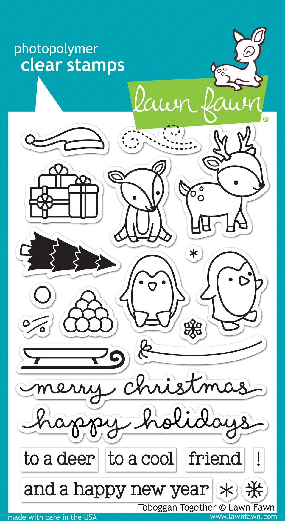Lawn Fawn Clear Stamps Toboggan Together