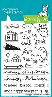 Lawn Fawn - Clear Stamps - Toboggan Together