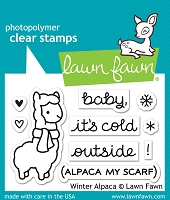 Lawn Fawn - Clear Stamps - Winter Alpaca