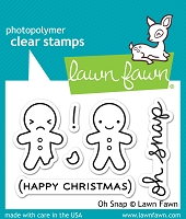 Lawn Fawn - Clear Stamps - Oh Snap