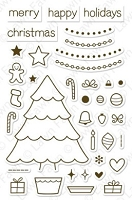 Lawn Fawn - Clear Stamps - Trim the Tree