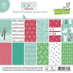 Lawn Fawn - 6x6 paper pad - Snow Day Remix Petite Paper Pack
