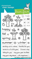 Lawn Fawn - Clear Stamps - Trees Before 'n Afters