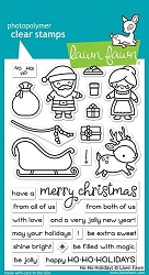 Lawn Fawn - Clear Stamps - Ho-Ho-Holidays