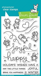 Lawn Fawn - Clear Stamps - Mice on Ice