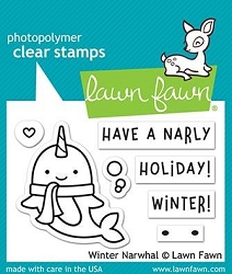 Lawn Fawn - Clear Stamps - Winter Narwhal