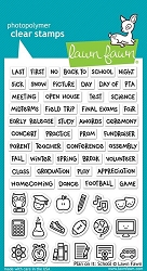 Lawn Fawn - Clear Stamps - Plan on it:  School