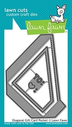 Lawn Fawn - Die - Diagonal Gift Card Pocket Die