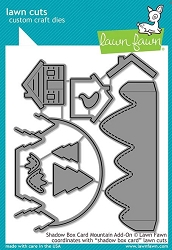 Lawn Fawn - Die - Shadow Box Card Mountain Add-On