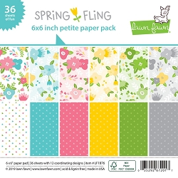 Lawn Fawn - 6x6 paper pad - Spring Fling Petite Paper Pack