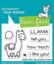 Lawn Fawn - Clear Stamps - Llama Tell You