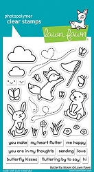 Lawn Fawn - Clear Stamps - Butterfly Kisses