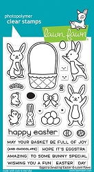 Lawn Fawn - Clear Stamps - Eggstra Amazing Easter
