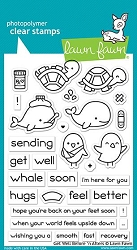 Lawn Fawn - Clear Stamps - Get Well Before 'n Afters