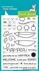 Lawn Fawn - Clear Stamps - Be Hap-Pea