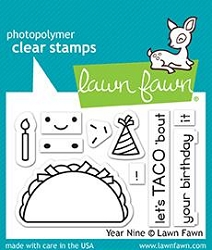 Lawn Fawn - Clear Stamps - Year Nine