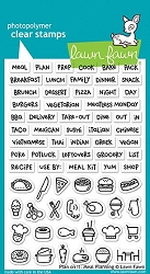 Lawn Fawn - Clear Stamps - Plan On It: Meal Planning