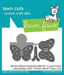 Lawn Fawn - Die - Reveal Wheel Butterfly Add-On