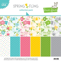 Lawn Fawn - 12x12 paper pack - Spring Fling Collection Paper Pack