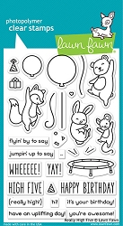Lawn Fawn - Clear Stamps - Really High Five