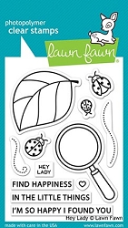 Lawn Fawn - Clear Stamps - Hey Lady