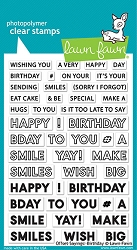Lawn Fawn - Clear Stamps - Offset Sayings: Birthday