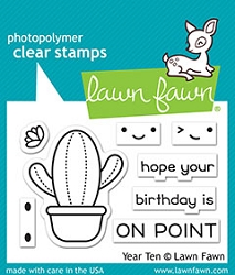Lawn Fawn - Clear Stamps - Year Ten