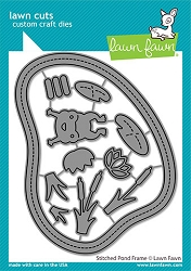 Lawn Fawn - Die - Stitched Pond Frame