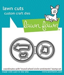 Lawn Fawn - Die - Reveal Wheel Circle Sentiments Lawn Cuts