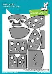 Lawn Fawn - Die - Tiny Gift Box Ladybug Add-On