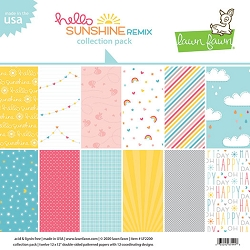 Lawn Fawn - 12x12 paper pack - Hello Sunshine Remix