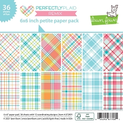 Lawn Fawn - 6x6 paper pad - Perfectly Plaid Remix Paper Pack