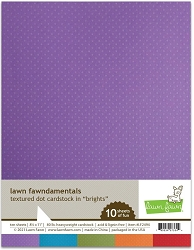 Lawn Fawn - 8.5x11 specialty paper - Texture Dots Brights