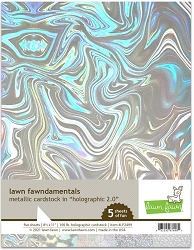 Lawn Fawn - 8.5x11 specialty paper - Holographic 2.0