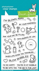 Lawn Fawn - Clear Stamps - Bubbles Of Joy