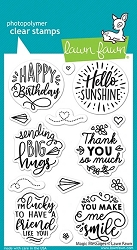 Lawn Fawn - Clear Stamps - Magic Messages