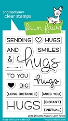 Lawn Fawn - Clear Stamps - Long Distance Hugs