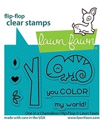 Lawn Fawn - Clear Stamps - One In A Chameleon Flip-Flop